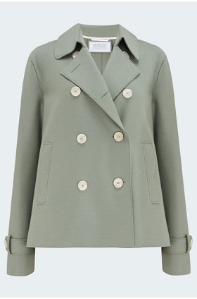 cropped trench coat in rosemary