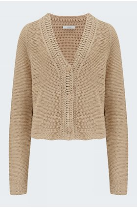 crochet cardigan in straw