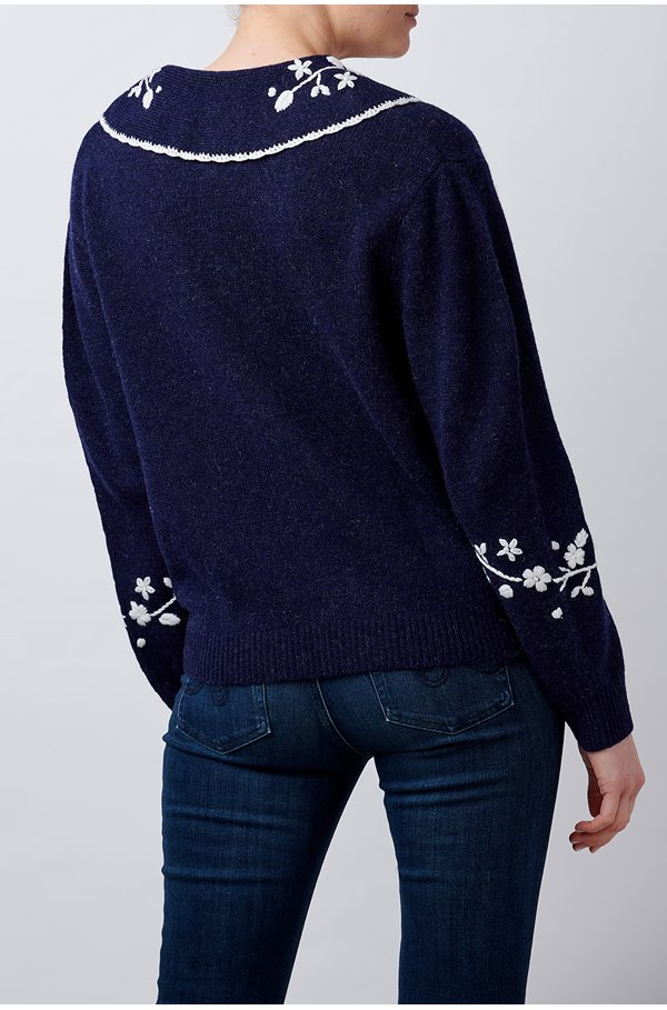 lula jumper in navy with ivory