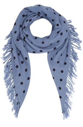 DOUCE GLOIRE Pois Dot Scarf in Jean Blue and Navy