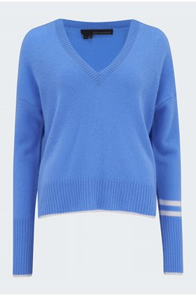 janie jumper in cornflower alabaster