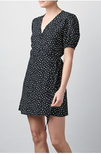 sonora wrap dress in eveline floral