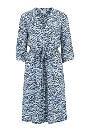Trilogy Willow Dress in Textured Blue Animal