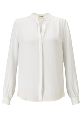 L'AGENCE Bianca Blouse in Ivory