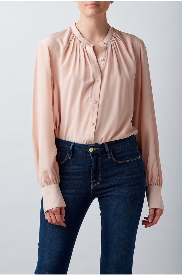 causette blouse in peach whip