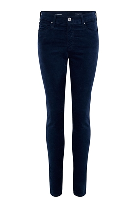 AG Farrah Skinny Velvet Jean in Blue Night