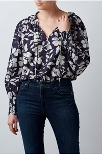 anissa top in navy
