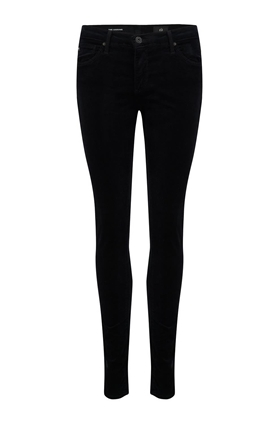 legging ankle skinny velvet jean in super black