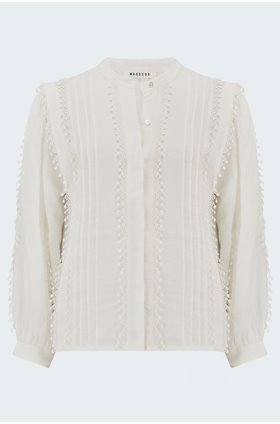 Brunella Blouse in White