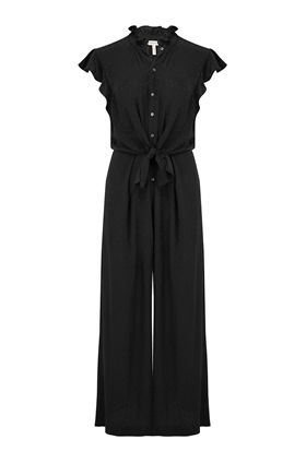 Rebecca Taylor Heart Jacquard Silk Jumpsuit in Black
