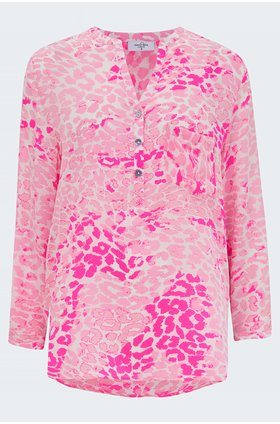 stanford leopard diva blouse in pink