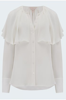 georgette blouse in snow