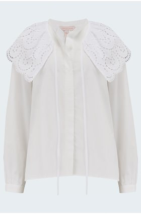 valerie blouse in lyrla white