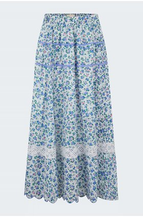 saratoga skirt in blue jay song