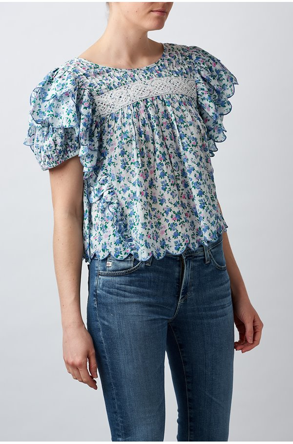 nelson blouse in blue jay song