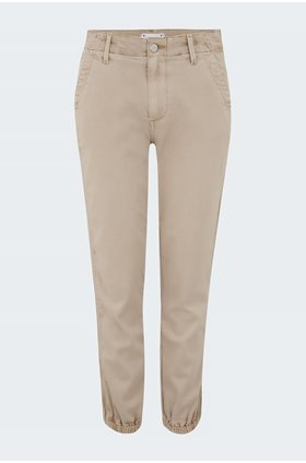 mayslie grosgrain side stripe jogger in vintage oak