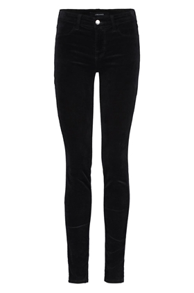 815 skinny velvet jean in black
