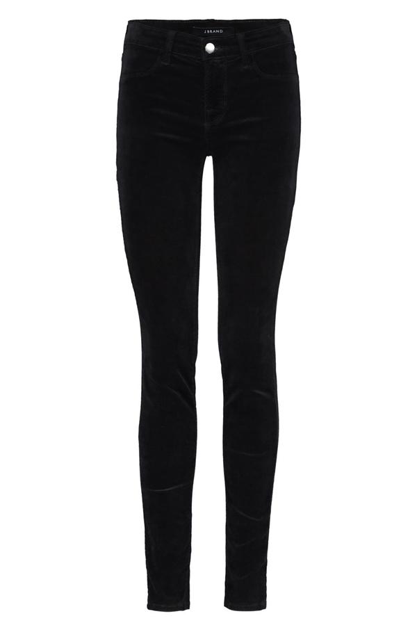 bec43febb33de J Brand Jeans 815 Skinny Velvet Jean in Black -
