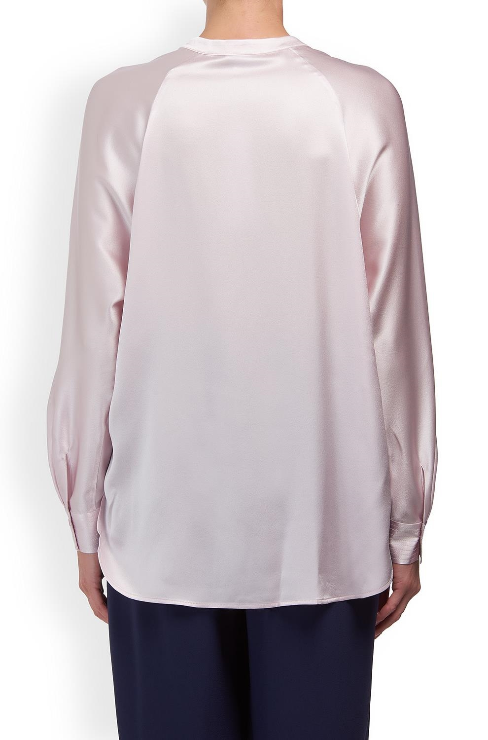 56d4183853a504 Vince. Band Collar Silk Blouse in Lilac. £315.00. 1   4