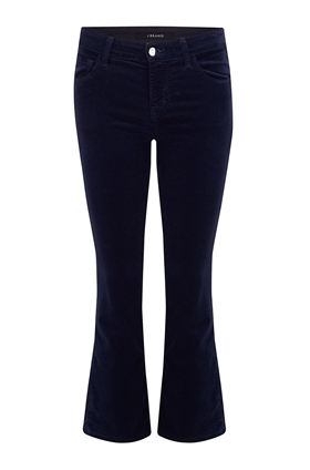 J Brand Selena Cropped Bootcut Jean in Night Out Velvet
