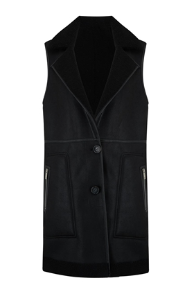Urbancode Nolon Reversible Gilet in Black