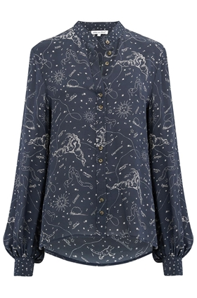 Maddox Astrology Shirt in Navy
