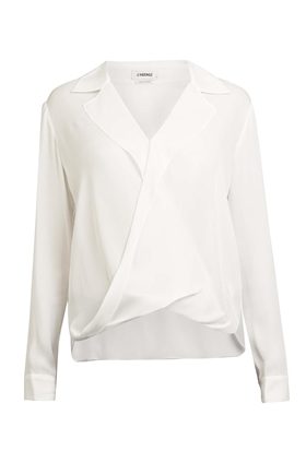 L'AGENCE Rita blouse in ivory