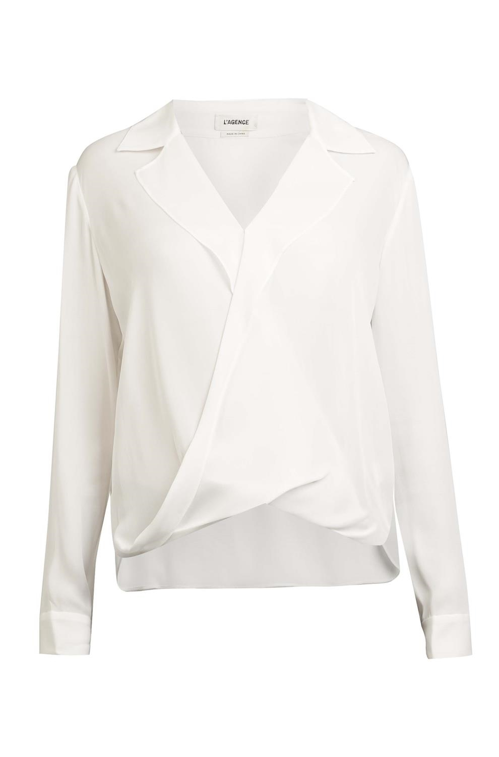 d0d3f83f5be4d L'AGENCE Rita blouse in ivory -