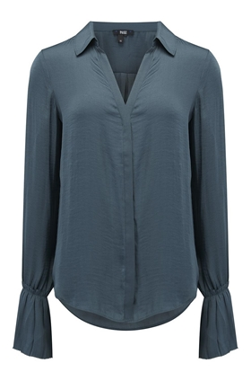 Paige Abriana Blouse in Midnight Slate