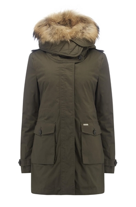 Scarlett Eskimo 3-In--1 Parka Coat in Olive
