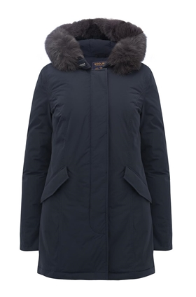 Woolrich Luxury Arctic Fox Parka in Midnight Blue