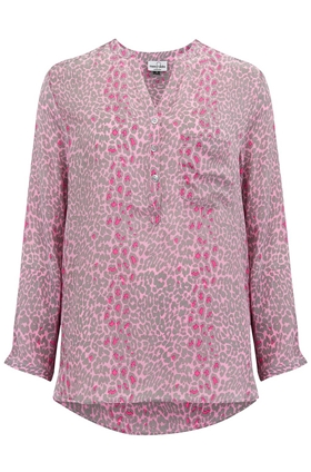 Mercy Delta Stanford Blouse in Micro Safari Pink