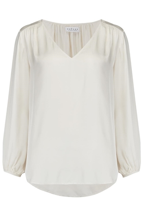 Velvet Rohana Top in Crema