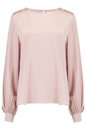 Velvet Aggie Blouse in Blush