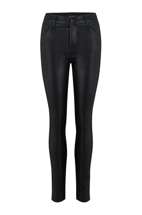 J Brand Maria Skinny Jean in Coated Galactic Black