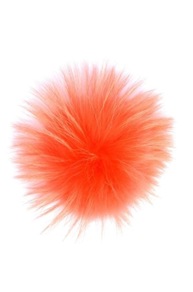 Big Fur Pom Pom in Coral
