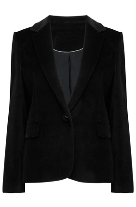 Carine Blazer in Black Velvet