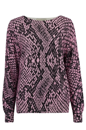 Snake Print Jumper in Pink