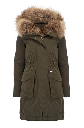 Woolrich Military Parka in Dark Green
