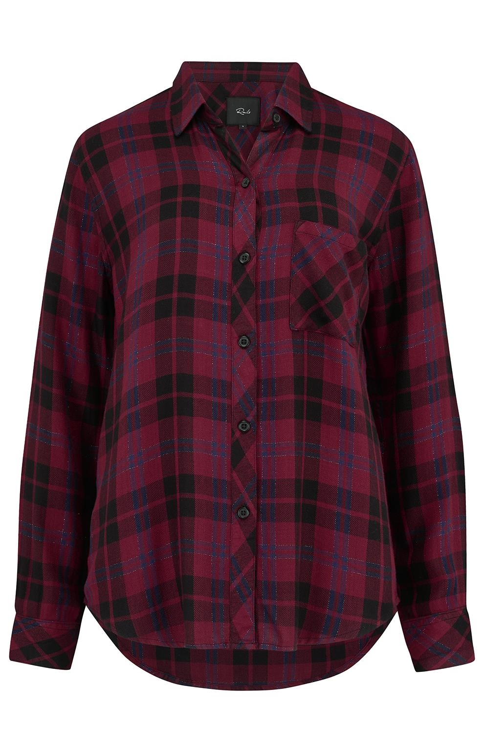 8768c59a Rails Hunter Shirt in Wine, Navy and Black -