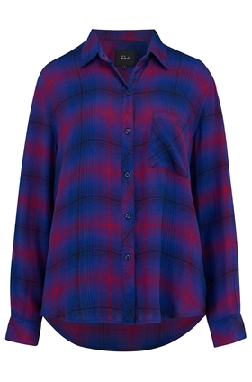 Rails Hunter Shirt in Azure and Scarlet