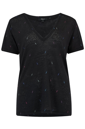 Rails Cara T-Shirt in Black Lightning