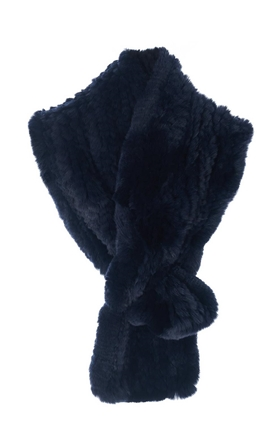 Fur 5 Eight Loop Scarf in Dark Blue