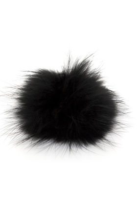 Bobbl Big Fur Pom Pom in Black