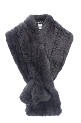 Fur 5 Eight Loop Scarf in Dark Grey
