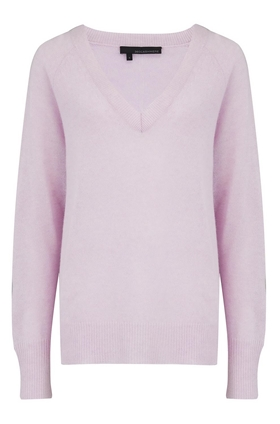 Nevaeh V-Neck Jumper in Lavender