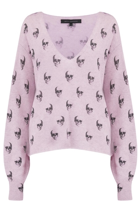 360 Sweater Penny Skull Jumper in Lavender
