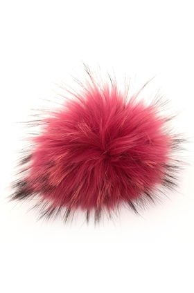 Big Fur Bobbl in Hot Pink