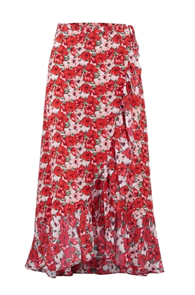 Rixo Gracie Wrap Skirt in Diana Floral