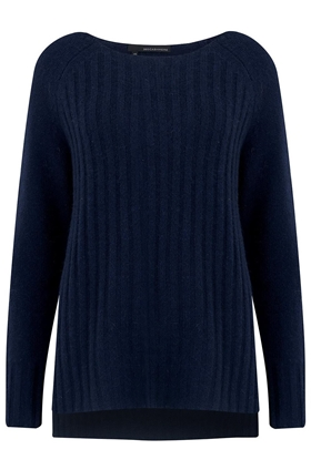 360 Sweater Serenity Boatneck Jumper in Navy